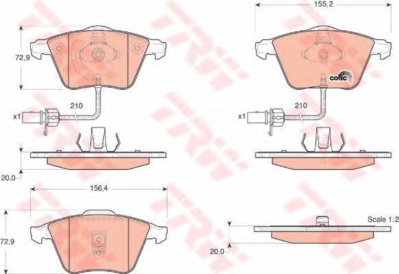 Тормозные колодки Тормозные колодки дисковые ABE арт. GDB1528
