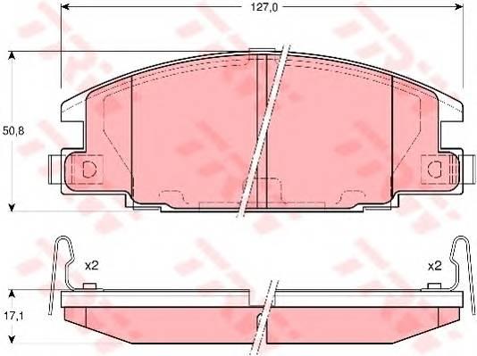 Тормозные колодки Тормозные колодки дисковые ABE арт. GDB3161