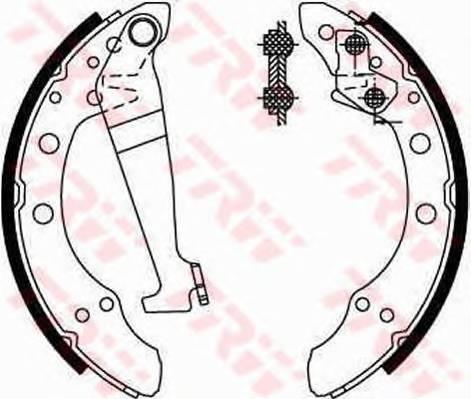 Тормозные колодки Тормозные колодки барабанные ABE арт. GS8092