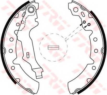 Тормозные колодки Тормозные колодки барабанные ABE арт. GS8603