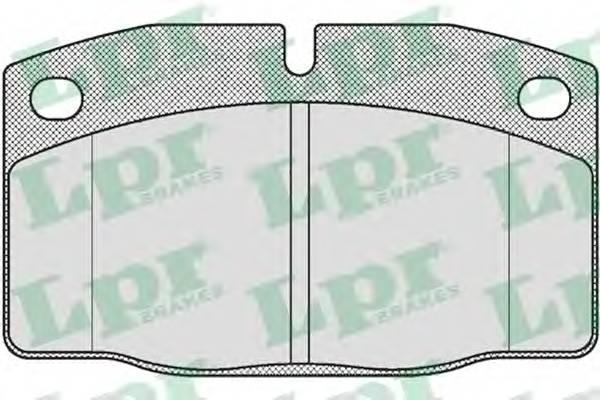 Тормозные колодки Тормозные колодки дисковые LPR арт. 05P190