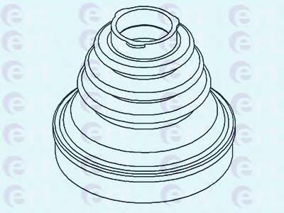 Пильник ШРУС гумовий  змазка ERT 500434