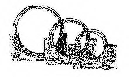Хомут глушителя M8 45мм BOSAL 250945