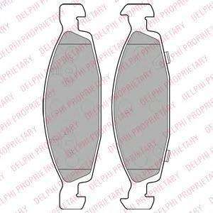 Гальмівні колодки, дискові PAGID арт. LP1557