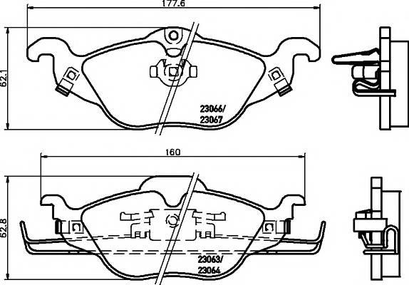 Тормозные колодки 23063/18,3мм Тормозные колодки PAGID PAGID арт. T1164