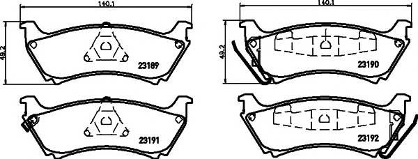 Тормозные колодки 23189/17,0мм Тормозные колодки PAGID PAGID арт. T1172
