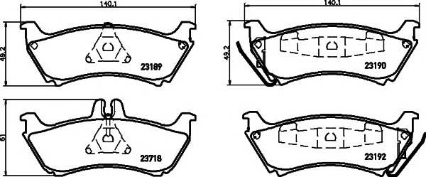 Тормозные колодки 23190/16,6мм Тормозные колодки PAGID PAGID арт. T1228