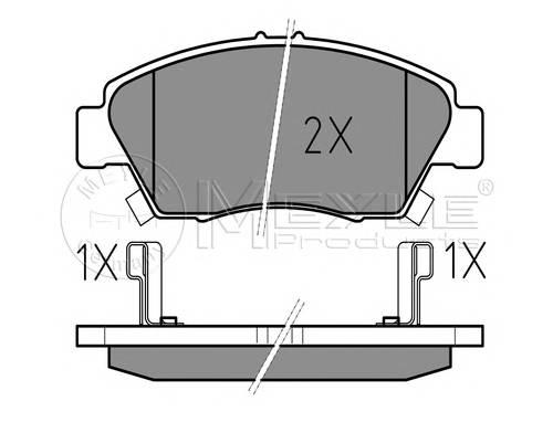 Тормозные колодки Тормозные колодки дисковые PAGID арт. 0252169416W