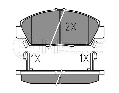 Тормозные колодки Тормозные колодки дисковые PAGID арт. 0252187918W