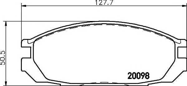 Тормозные колодки 20098/17,0мм Тормозные колодки PAGID PAGID арт. T0364