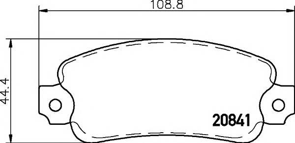 Тормозные колодки 20841/12,0мм Тормозные колодки PAGID PAGID арт. T9009