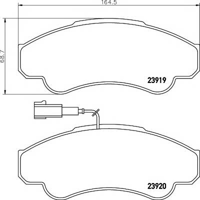 Тормозные колодки 23919/19,1мм Тормозные колодки PAGID PAGID арт. T1355