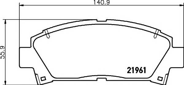 Тормозные колодки 21961/15,5мм Тормозные колодки PAGID PAGID арт. T3044