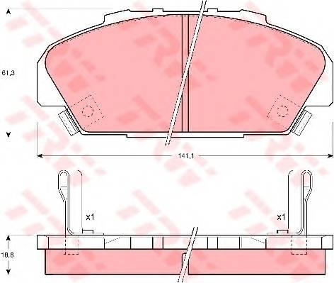 Тормозные колодки Тормозные колодки дисковые PAGID арт. GDB1137