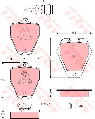 Тормозные колодки Тормозные колодки дисковые PAGID арт. GDB1329