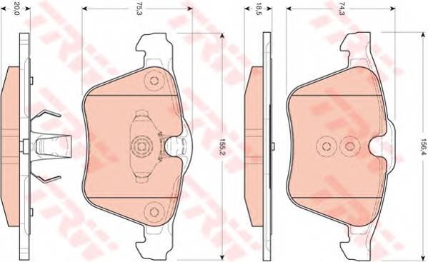 Тормозные колодки Тормозные колодки дисковые ABE арт. GDB1684