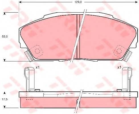 Тормозные колодки Тормозные колодки дисковые PAGID арт. GDB3034
