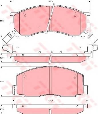 Тормозные колодки Тормозные колодки дисковые PAGID арт. GDB3086