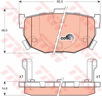 Тормозные колодки Тормозные колодки дисковые PAGID арт. GDB3170