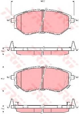 Тормозные колодки Тормозные колодки дисковые ABE арт. GDB3372