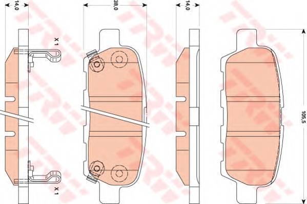 Тормозные колодки Тормозные колодки дисковые PAGID арт. GDB3507
