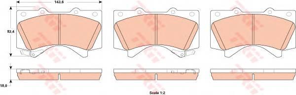 Тормозные колодки Тормозные колодки дисковые ABE арт. GDB3524