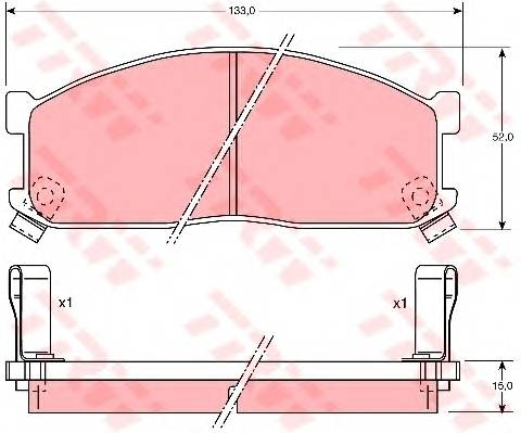 Тормозные колодки Тормозные колодки дисковые PAGID арт. GDB737
