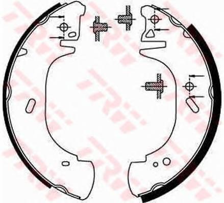 Тормозные колодки Тормозные колодки барабанные ABE арт. GS8630