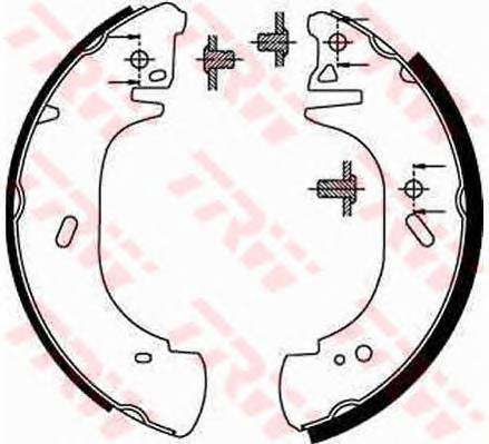 Тормозные колодки Тормозные колодки барабанные PAGID арт. GS8630