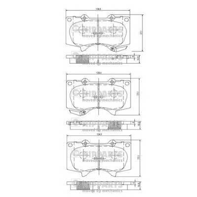 Тормозная система Гальмiвнi колодки, к-кт. ABE арт. J3602109