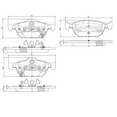 Тормозная система Гальмiвнi колодки, к-кт. ABE арт. N3604067