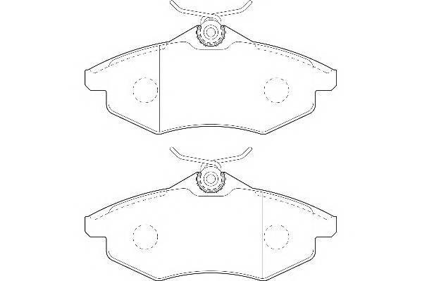 Тормозные колодки Тормозные колодки Wagner PAGID арт. WBP23407A