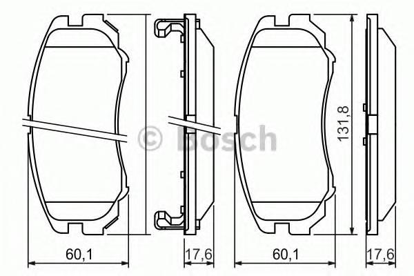 Тормозные колодки Тормозные колодки Bosch ABE арт. 0986424815