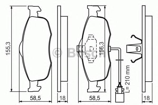 Тормозные колодки Тормозные колодки дисковые PAGID арт. 0986460971