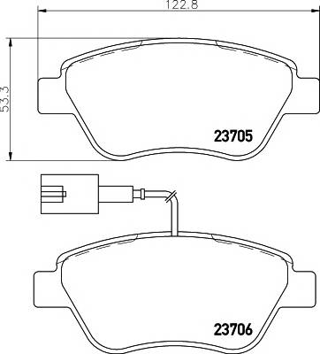 Тормозные колодки Тормозные колодки дисковые TEXTAR ABE арт. 2370502