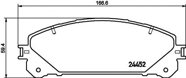 Тормозные колодки Тормозные колодки дисковые ABE арт. 2445201