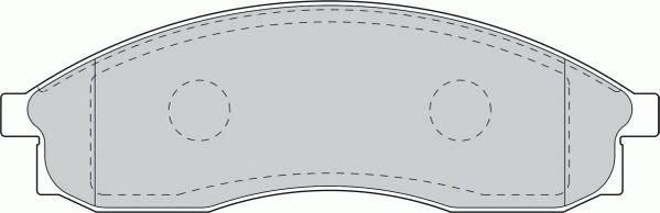 Тормозные колодки Тормозные колодки Ferodo ABE арт. FDB1434