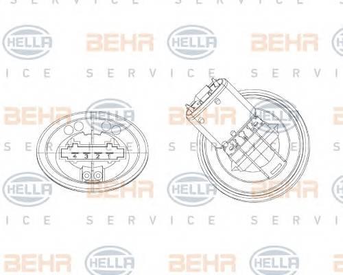 блок управления, отопление  вентиляция HELLA 5HL351321301