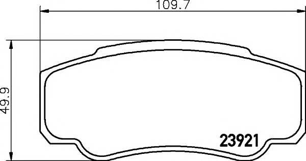Тормозные колодки 23921/20,1мм Тормозные колодки PAGID PAGID арт. T1356