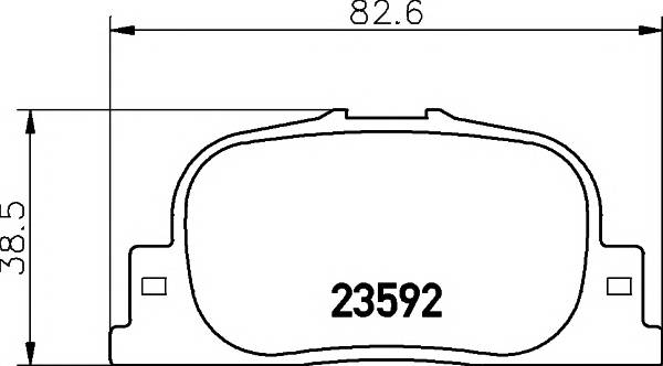Тормозные колодки 23592/15,0мм Тормозные колодки PAGID PAGID арт. T1308