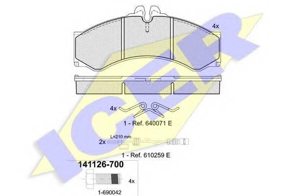 Тормозные колодки Тормозные колодки дисковые PAGID арт. 141126700