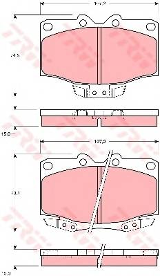 Тормозные колодки Тормозные колодки дисковые PAGID арт. GDB1133