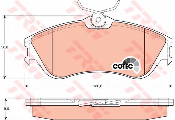 Тормозные колодки Тормозные колодки дисковые PAGID арт. GDB1295