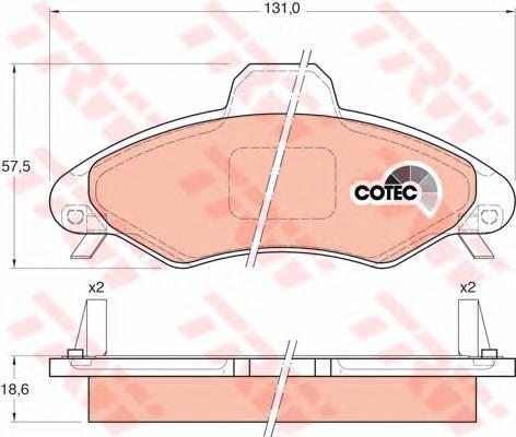 Тормозные колодки Тормозные колодки дисковые ABE арт. GDB1349