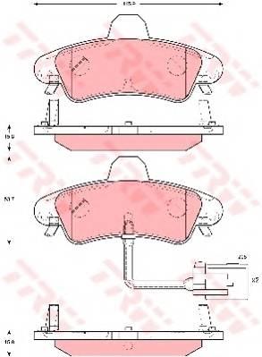 Тормозные колодки Тормозные колодки дисковые PAGID арт. GDB1581