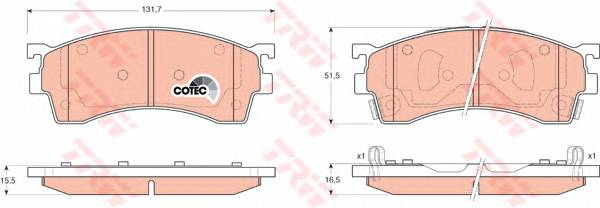 Тормозные колодки Тормозные колодки дисковые PAGID арт. GDB3209