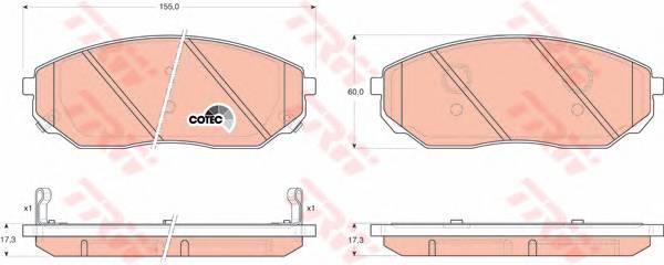 Тормозные колодки Тормозные колодки дисковые PAGID арт. GDB3343