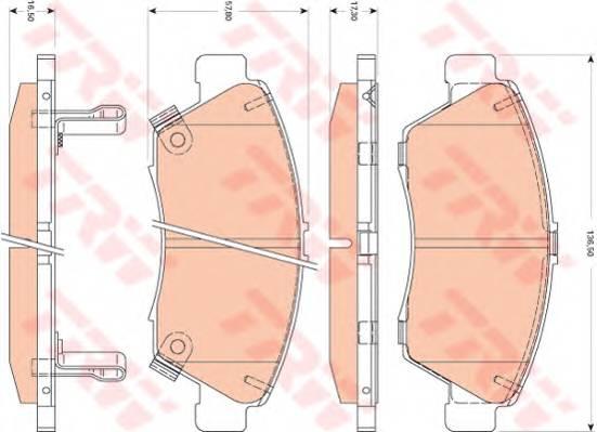 Тормозные колодки Тормозные колодки дисковые PAGID арт. GDB3478