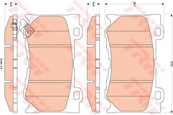Тормозные колодки Тормозные колодки дисковые ABE арт. GDB3505