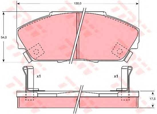 Тормозные колодки Тормозные колодки дисковые PAGID арт. GDB733